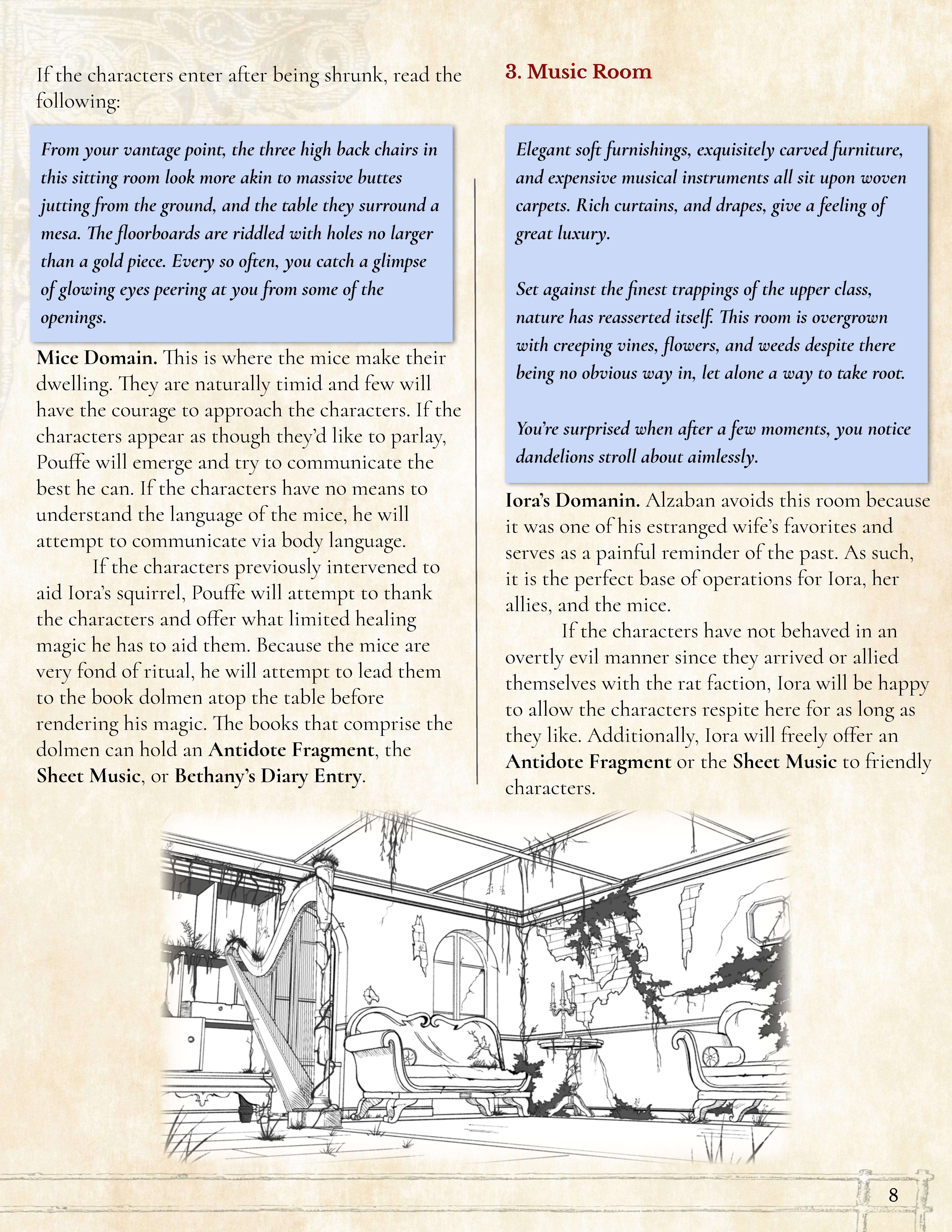 Preview of page 8 of Mansion of the Minimizing Mage