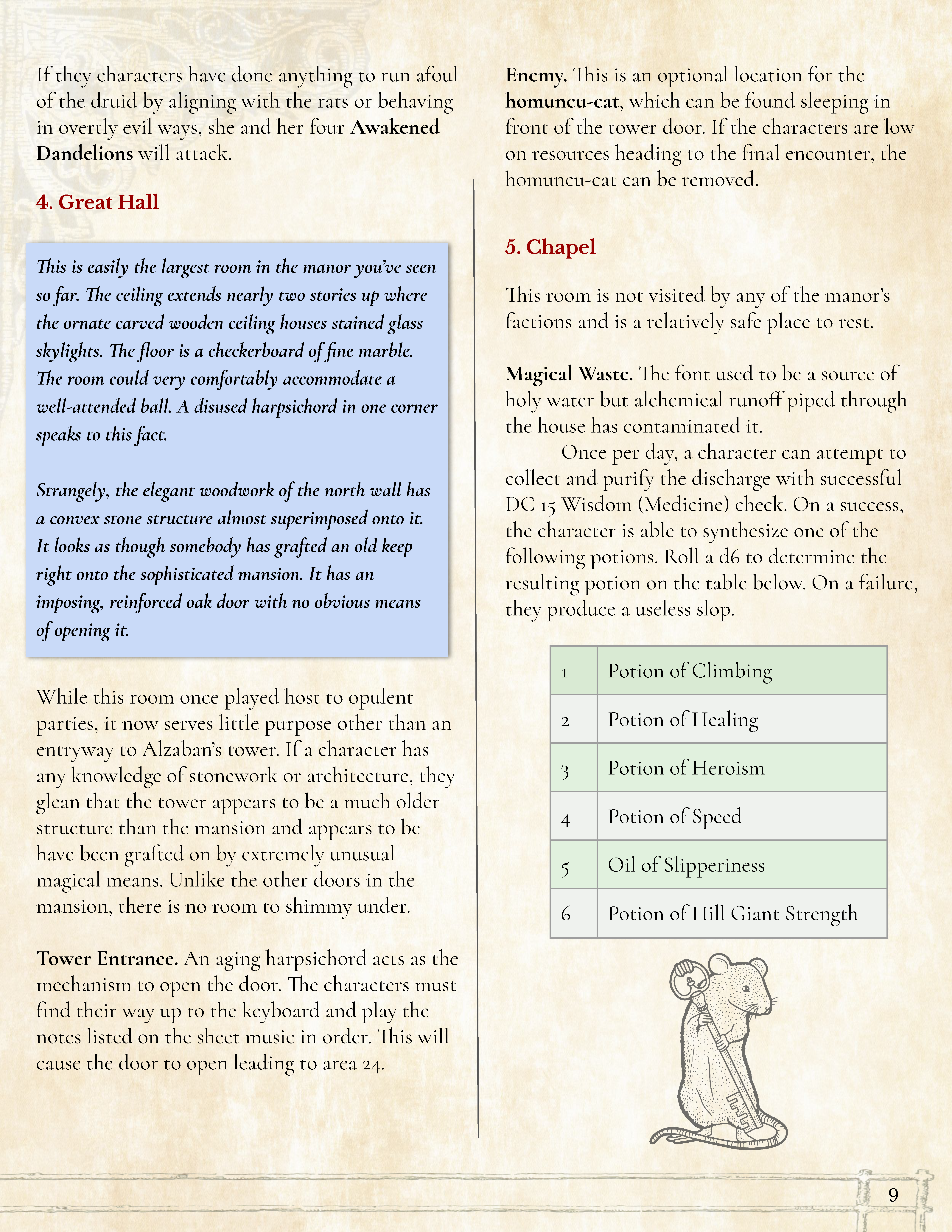 Preview of page 9 of Mansion of the Minimizing Mage